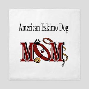 American Eskimo Dog Mom Queen Duvet