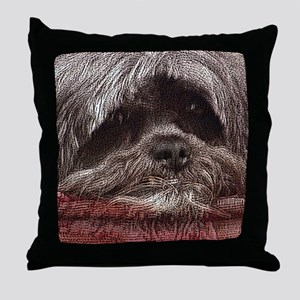 Lhasa Apso Pop Art Blitz Throw Pillow