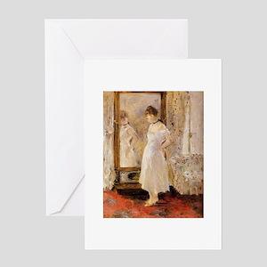 The Mirror, Berthe Morisot Greeting Card