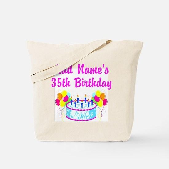 HAPPY 35TH BIRTHDAY Tote Bag