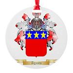 Agosto Round Ornament