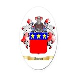 Agosto Oval Car Magnet