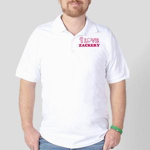I Love Zackery Golf Shirt
