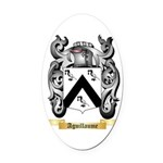 Aguillaume Oval Car Magnet