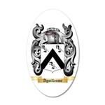 Aguillaume 20x12 Oval Wall Decal