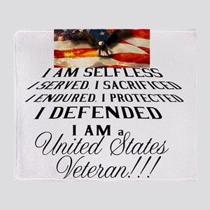 THE VETERAN!!!! Throw Blanket
