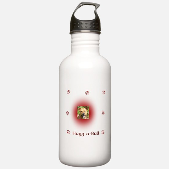 Hugg-a-bull dk red Water Bottle