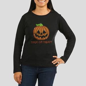 Rhinestone Jackolantern Pumpkin Long Sleeve T-Shir