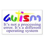 Autism - Its not a proce Sticker (Rectangle 10 pk)