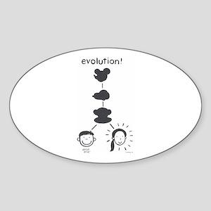 Evolution Oval Sticker
