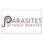 Parasites without Border Sticker (Rectangle 10 pk)