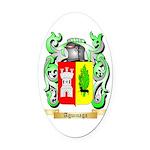 Aguinaga Oval Car Magnet