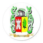 Aguinaga Round Car Magnet