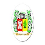 Aguinaga 20x12 Oval Wall Decal