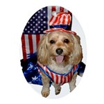 Yorkie Doodle Dandy Oval Ornament