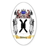 Ahlborg Sticker (Oval 50 pk)