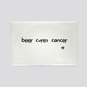 beer cures cancer Rectangle Magnet