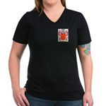 Ahmel Women's V-Neck Dark T-Shirt