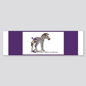 Zebra with Ribbon on Tail Bumper Sticker