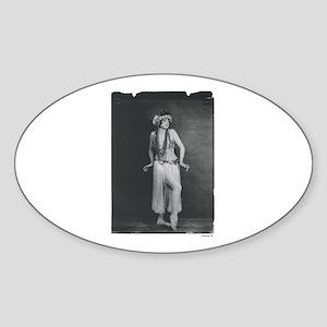 Dancer (black) Oval Sticker