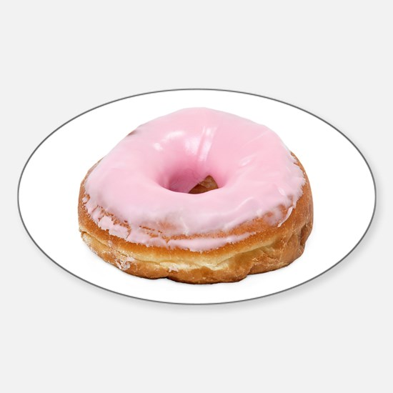 Doughnut pink frosted Sticker (Oval)
