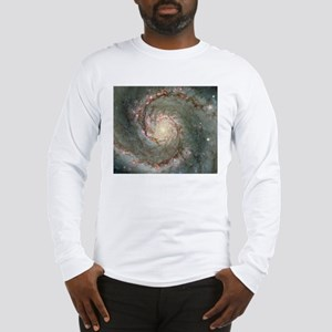 M51 Whirlpool Galaxy Mousepad Long Sleeve T-Shirt