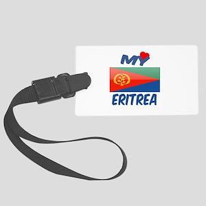 My Love Eritrea Large Luggage Tag
