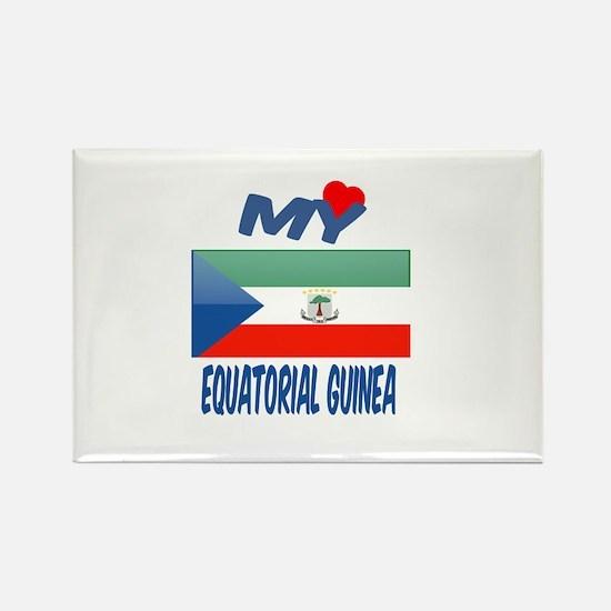 My Love Equatorial Guinea Rectangle Magnet