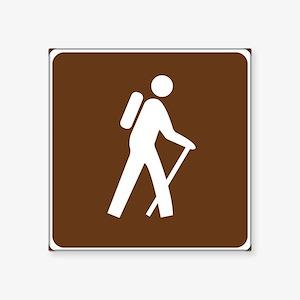 Hiking Trail Sign Sticker