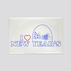 I Heart New Year's Rectangle Magnet