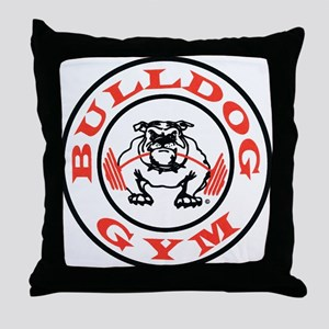 Bulldog Gym Logo Throw Pillow
