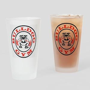 Bulldog Gym Logo Drinking Glass