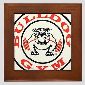 Bulldog Gym Logo Framed Tile