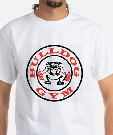 Bulldog Gym Logo White T-Shirt