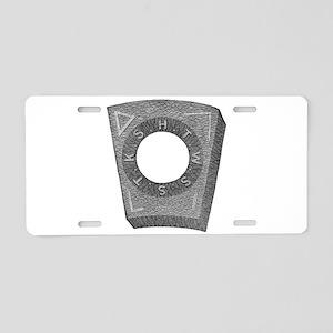 Mark Master Capstone (b/w) Aluminum License Plate