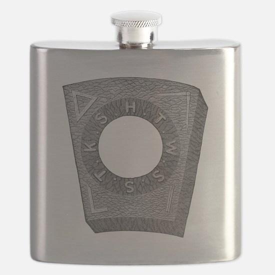 Mark Master Capstone (b/w) Flask