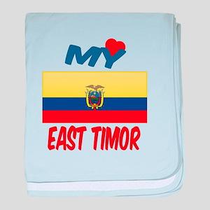 My Love East Timor baby blanket
