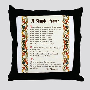 A Simple Prayer by Saint Francis of Assisi Throw P