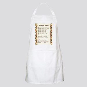 A Simple Prayer by Saint Francis of Assisi Apron