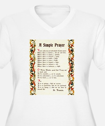 A Simple Prayer by Saint Francis of Assisi T-Shirt