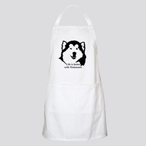 Life is better with Malamutes Apron