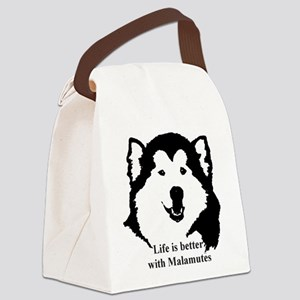 Life is better with Malamutes Canvas Lunch Bag