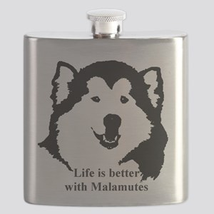 Life is better with Malamutes Flask