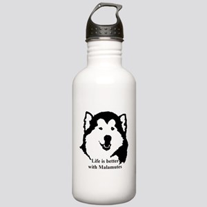 Life is better with Malamutes Stainless Water Bott