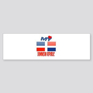 My Love Dominican Republic Sticker (Bumper)
