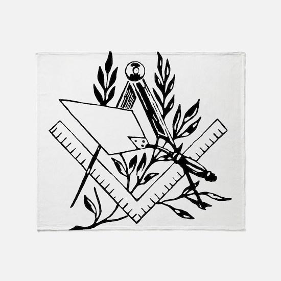 Masonic Tools Throw Blanket