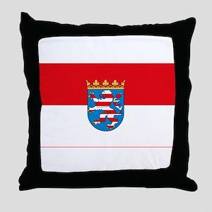 Hessian Flag Throw Pillow