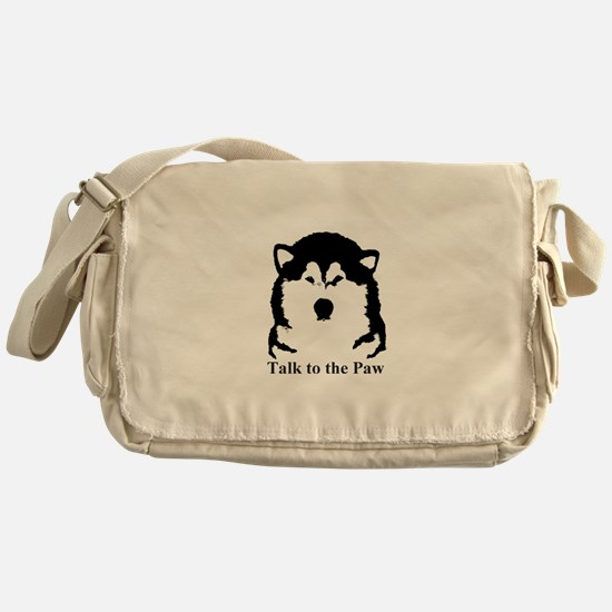 Talk to the Paw Messenger Bag