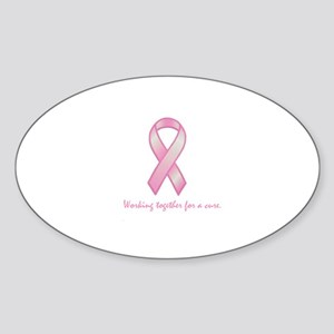 Working Together For A Cure Oval Sticker