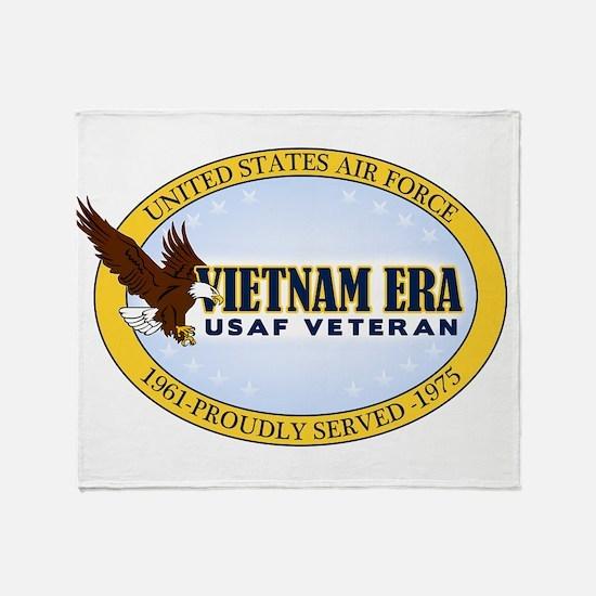 Vietnam Era Vet USAF Throw Blanket